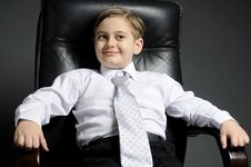 Free Little Manager Smiling Stock Photos - 17920233