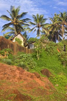 Free Tropical Hut On A Clifftop Stock Images - 17920564