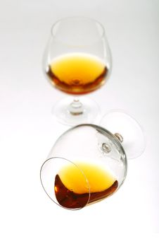 Free Glass Of Cognac Royalty Free Stock Photo - 17920725