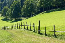 Free Mountain Pasture Meadows With Fence Stock Photo - 17920770