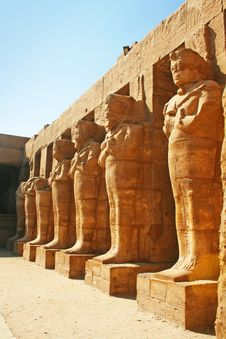 The Statues In Karnak Temple Complex Royalty Free Stock Photography