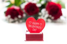 Free Red Roses With A Red Heart Royalty Free Stock Images - 17921979