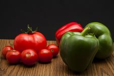 Free Paprikas And Cocktail Tomatoes Stock Image - 17922851