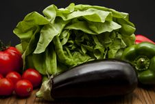 Free Aubergine And Salad Royalty Free Stock Images - 17923299