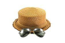 Free Straw Hat And Sunglasses Stock Photos - 17923653