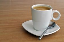 Free Coffee In Cup And Saucer Royalty Free Stock Photos - 17924348