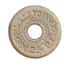 Egyptian Coin Royalty Free Stock Image
