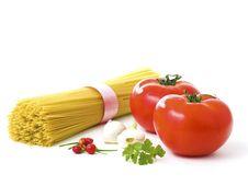 Spaghettis Isolated On White Background Royalty Free Stock Photo