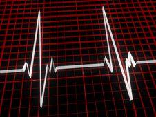 Three Dimensional Cardiogram Stock Photos