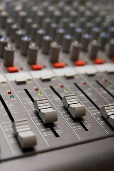 Free Studio Sound Mixer Details Royalty Free Stock Image - 17925466