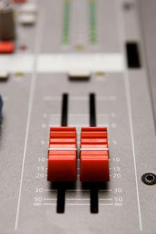 Free Studio Sound Mixer Details Royalty Free Stock Photo - 17925485