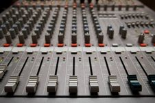 Free Studio Sound Mixer Details Stock Photography - 17925502