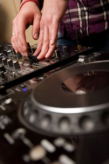 Free Hands Of A Dj Performing Stock Photos - 17925513