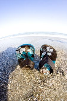 Free Flip Flops On The Beach Stock Photography - 17927142