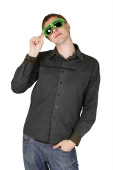 Free Young Man In Modern Club Sunglasses Royalty Free Stock Photo - 17927445