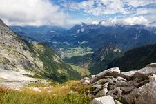 Free Austrian Montains With View Onto Lofer Royalty Free Stock Images - 17927529