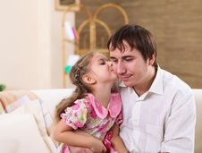 Free Young Family At Home With A Daughter Stock Photos - 17927633