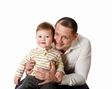 Free Portrait Of A Father With His Little Son Royalty Free Stock Photo - 17927665