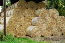 Free Circular Hay Bales In A Barn Royalty Free Stock Photo - 17927845