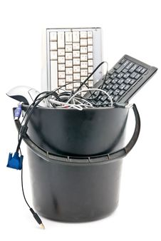 Free Full Trash Of Used Computer Devices Royalty Free Stock Image - 17928136