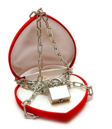 Free Love Locked Heart Shape With Chains Stock Images - 17928294