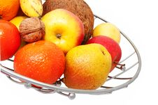 Free Fruit In A Metal Basket Royalty Free Stock Photography - 17928507