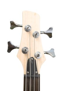 Bass Guitar Fingerboard Head With Pins And Strings Stock Images