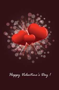 Free Valentine S Day Postcard Royalty Free Stock Images - 17928739
