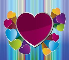 Free Heart Background For Valentine Day Stock Photography - 17929222