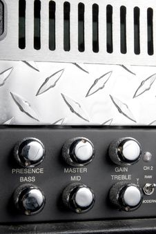 Free Black And Metallic Guitar Amplifier Panel Stock Photos - 17929413