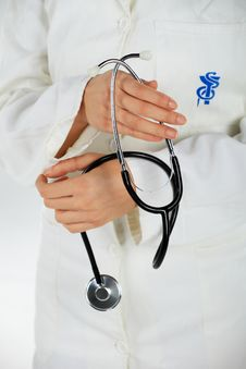 Free Nurse And Her Stethoscope Stock Photography - 17929502