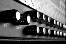 Free Black Musical Guitar Amplifier Panel Stock Image - 17929621