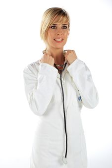 Free Nurse Listening Stock Photo - 17929630