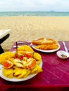 Free Meal By The Beach Royalty Free Stock Photos - 17931568