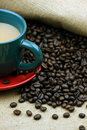 Free Coffee Beans And A Cup Of Coffee Royalty Free Stock Photo - 17936705