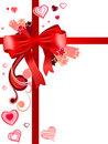 Free Red Bow With Hearts Royalty Free Stock Photos - 17939218