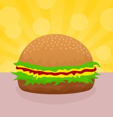 Free Hamburger Stock Images - 17930004