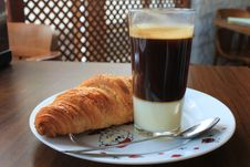 Free Croissant And Coffee Stock Photo - 17930070