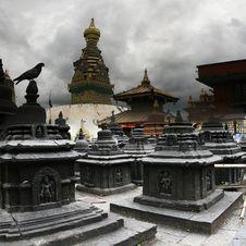 At Stupas Royalty Free Stock Photos