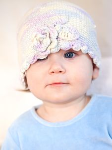 Little Child Baby Portrait On White Stock Images