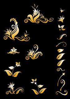 Free Set Of Decorative Elements For Design Royalty Free Stock Image - 17932156