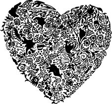 Vector Abstract Heart Unique Illustration Royalty Free Stock Photos