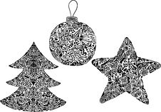 Free Vector Set Of Uniqe Christmas Simbols Stock Photos - 17932603
