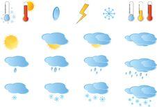 Free Set Of Weather Icos Stock Photography - 17932662