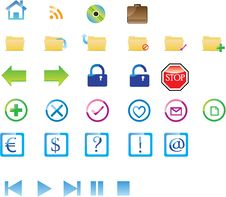Free Icon Set Royalty Free Stock Image - 17932696