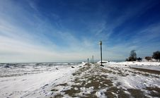 Free Snow-covered Pier Royalty Free Stock Photos - 17933188