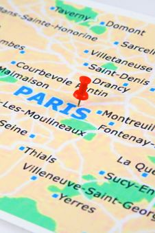 Free Paris Map Royalty Free Stock Images - 17933229