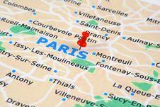 Free Paris Map Royalty Free Stock Photos - 17933238