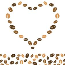Free Hearts Coffee Background With Love Stock Image - 17933471