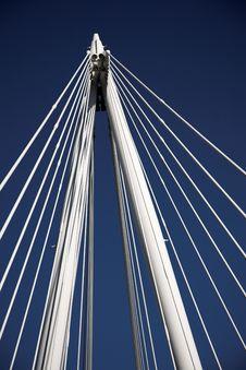 Free White Columns And Strings Of A Bridge Stock Photo - 17933570